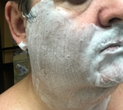 After face lathering for 30 seconds